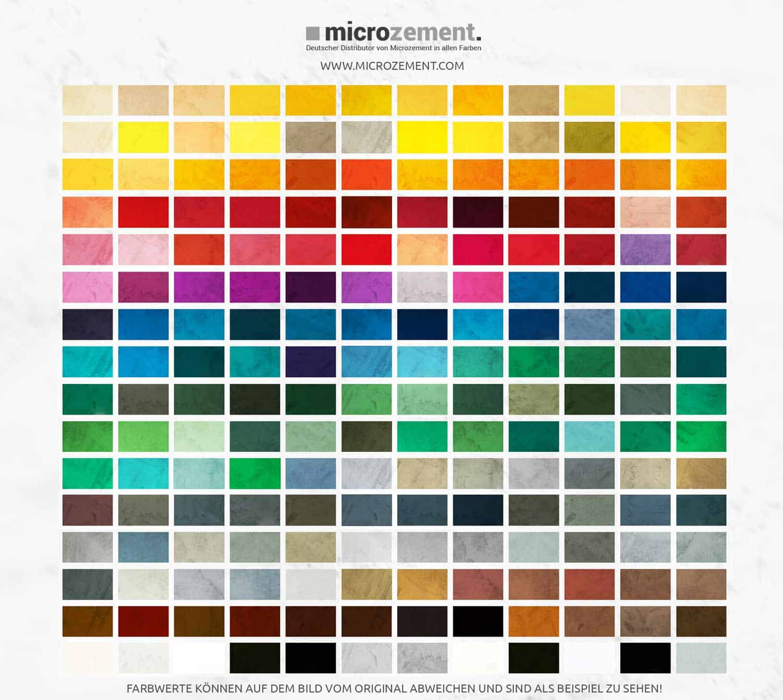 Mikrozement RAL Farben