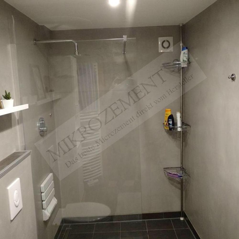 MIkrozement Badezimmer Grau